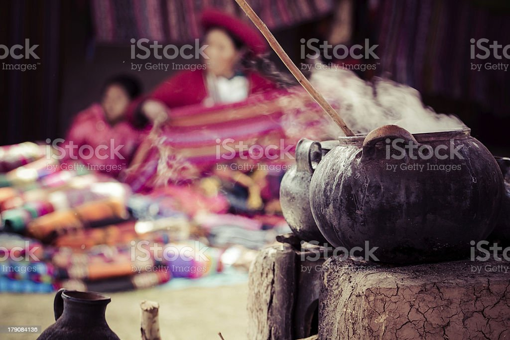 Traditional village in Peru, South America. stock photo