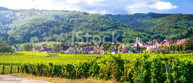 925850210 istock photo Traditional villages of Alsace and famous wine route in France 1009427846