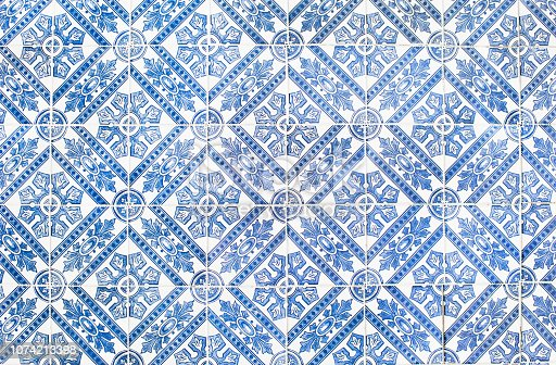 istock Traditional vinage portuguese decorative tiles azulejos 1074213398