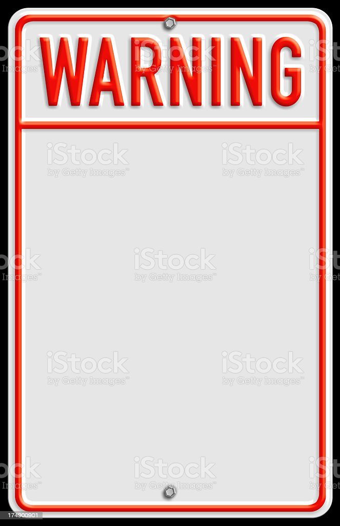 Traditional warning sign with area for text royalty-free stock photo