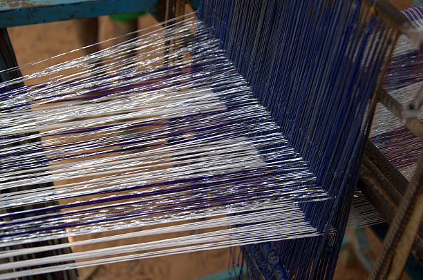 traditional weaving - kente cloth stock photos and pictures