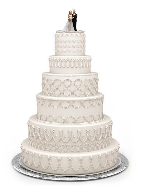 Traditional Wedding Cake stock photo