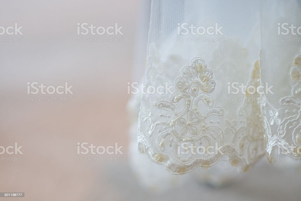 Traditional Wedding Veil stock photo