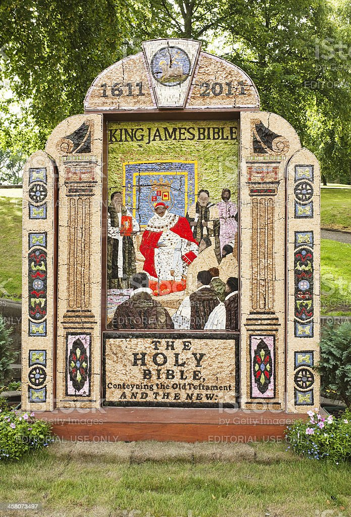 Traditional Well Dressing in Buxton Derbyshire royalty-free stock photo