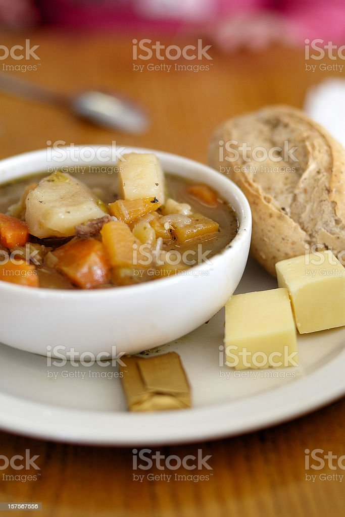Traditional Welsh broth stock photo