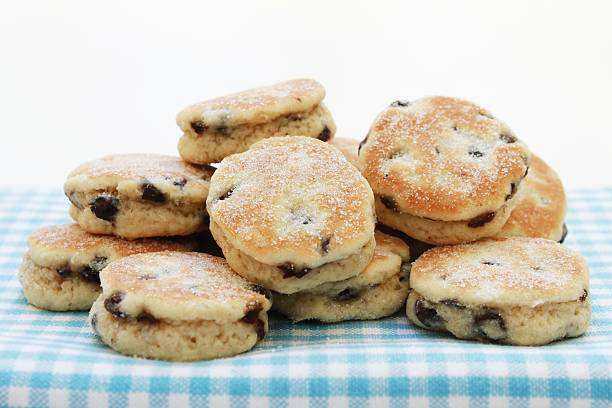 Traditional welsh cakes plated on table Traditional welsh cakes on white backgroundTraditional welsh cakes on white backgroundTraditional welsh cakes plated on table welsh culture stock pictures, royalty-free photos & images