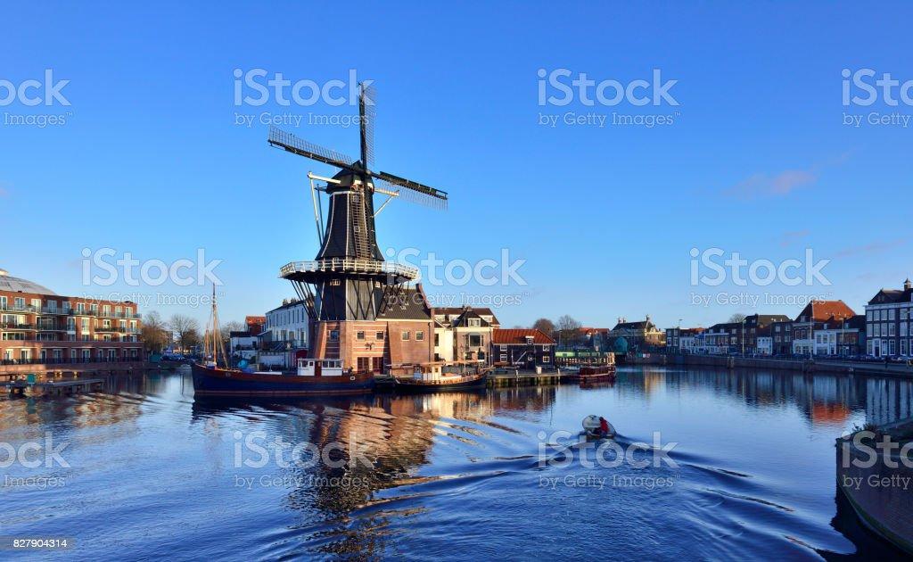 Traditional Windmill, Amsterdam, Netherlands stock photo