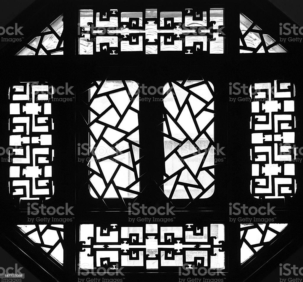 Traditional window of china stock photo