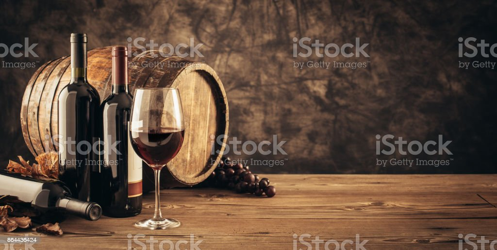 Traditional winemaking and wine tasting stock photo