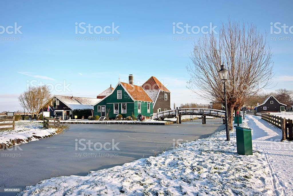 Traditional winter scenery in the Netherlands - Royalty-free Architecture Stock Photo