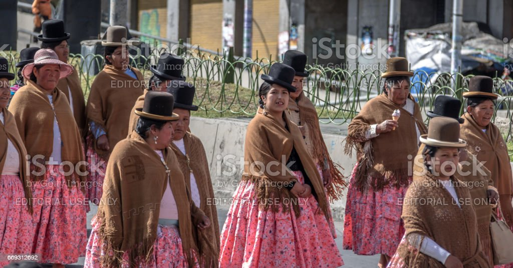 Traditional Women In Typical Clothes During 1st Of May Labor Day