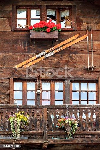 istock Traditional wooden house facade 896321818