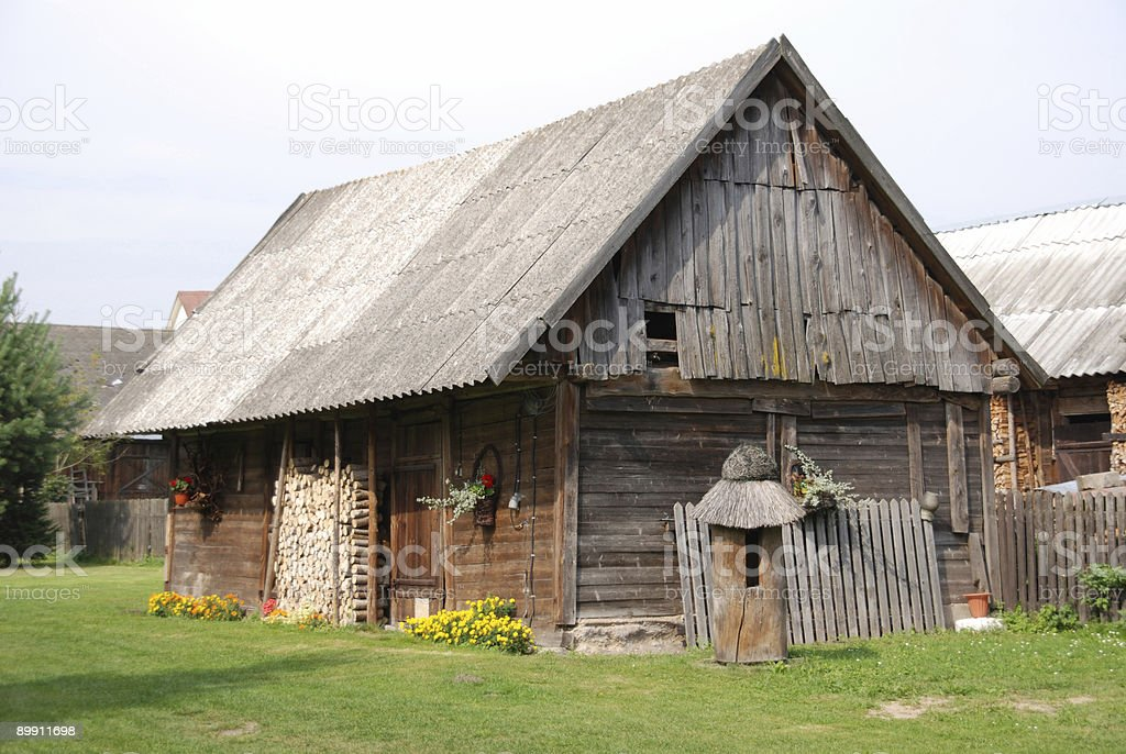Traditional wooden house royalty-free stock photo