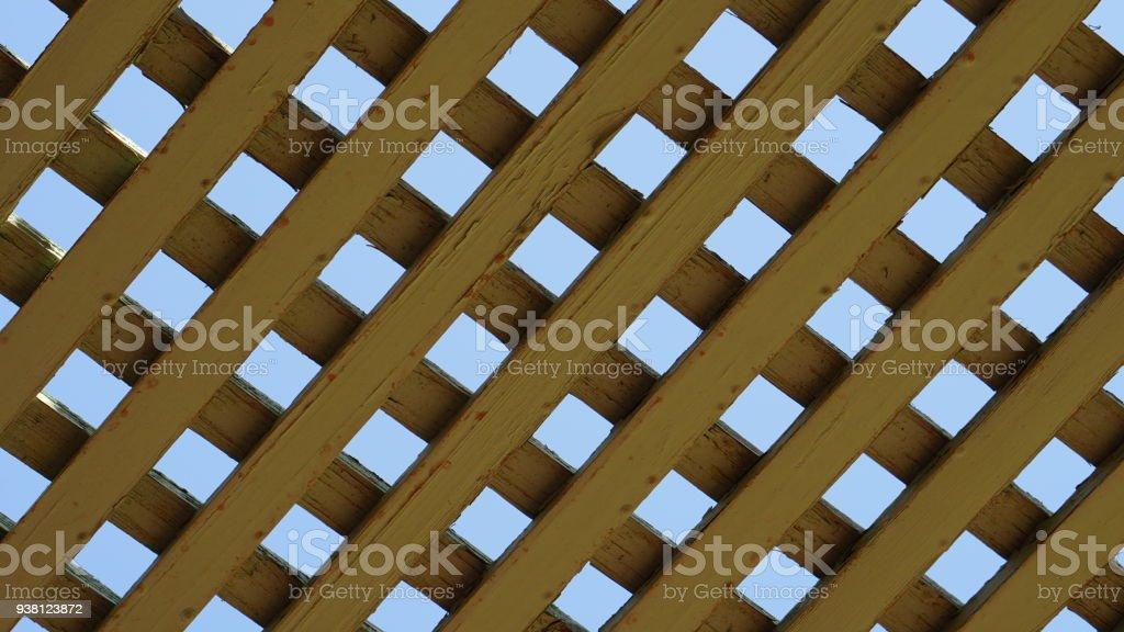 Enrejado de madera tradicional - foto de stock