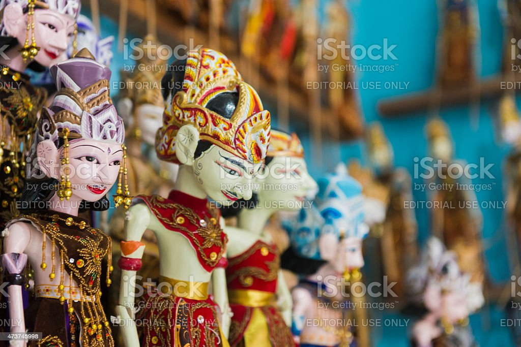 Traditional Wooden Puppets Yogyakarta Java Indonesia Culture Storytelling Stock Photo  More