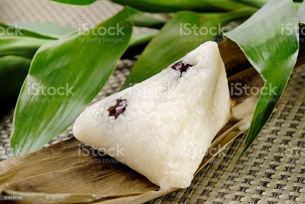 traditional wrapped rice dumplings stock photo