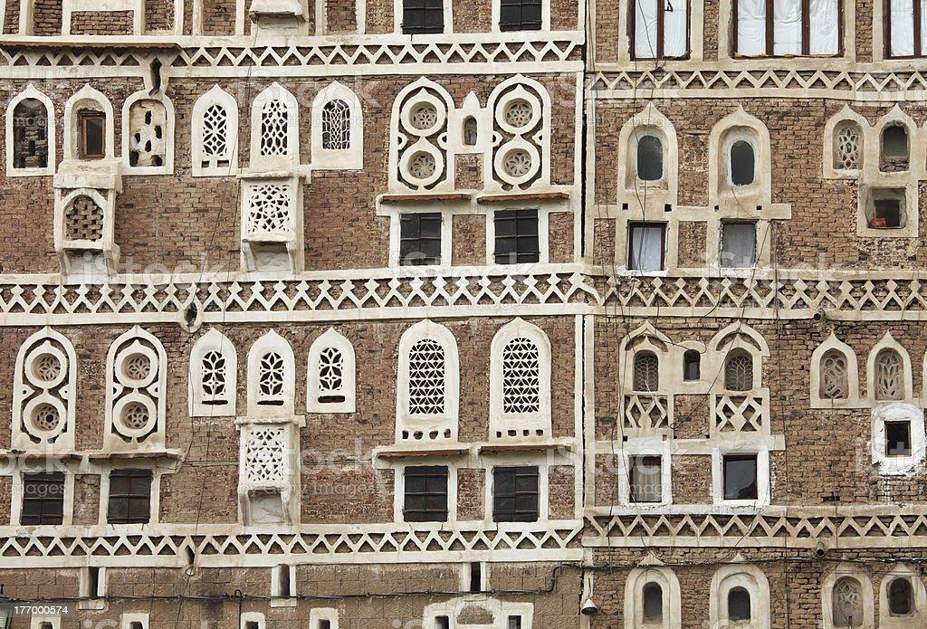 traditional Yemeni house royalty-free stock photo