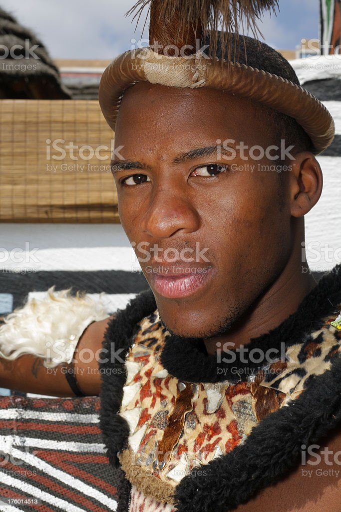 Traditional Zulu man South Africa royalty-free stock photo