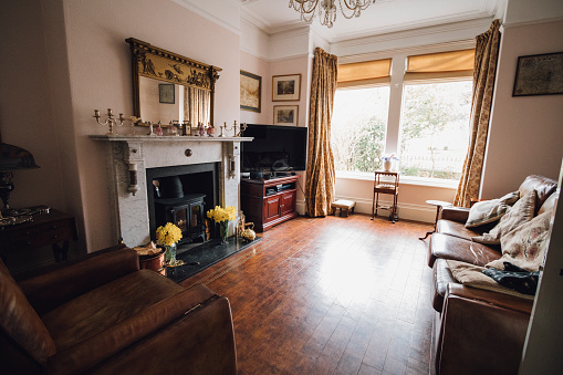 Traditionally British Living Room Stock Photo - Download ...