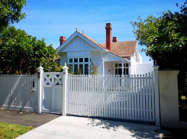 Traditionally built Australian bungalow - Melbourne stock photo