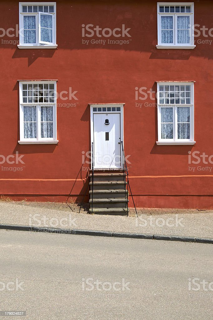 Traditionally painted domestic house in Lavenham, Suffolk. royalty-free stock photo