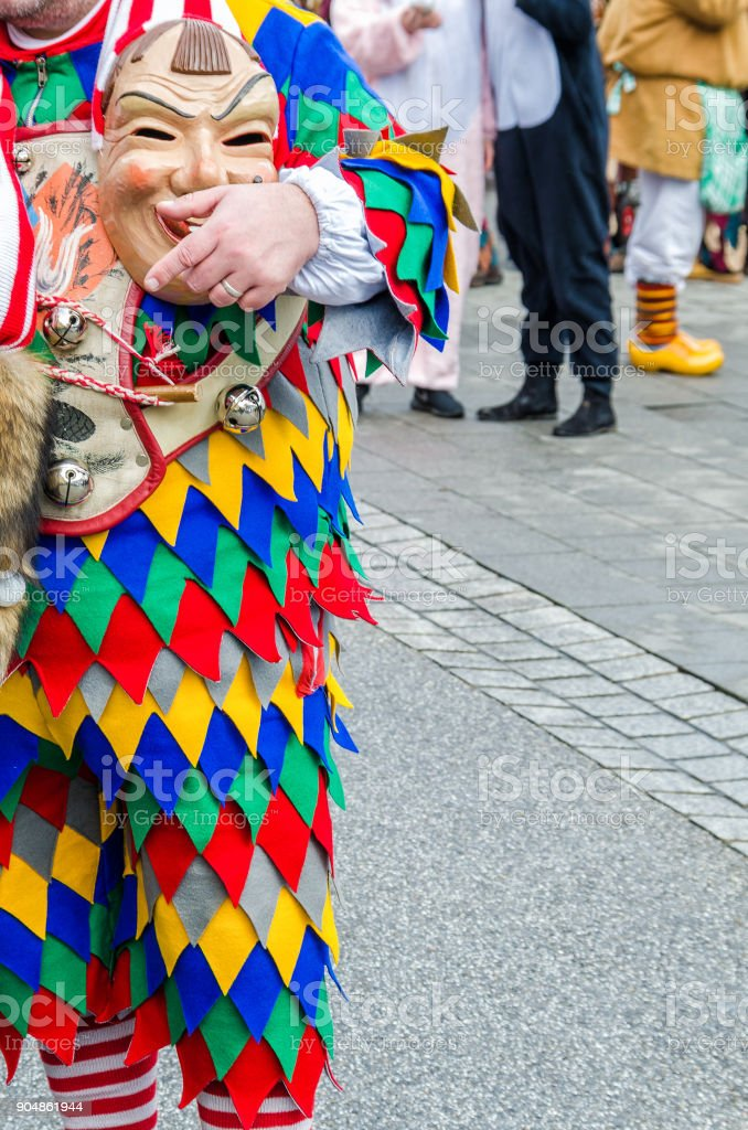 Traditionally, the festive and cultural carnival procession in Germany stock photo