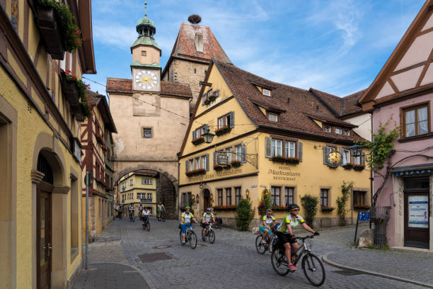 Tradititonal village in Germany stock photo