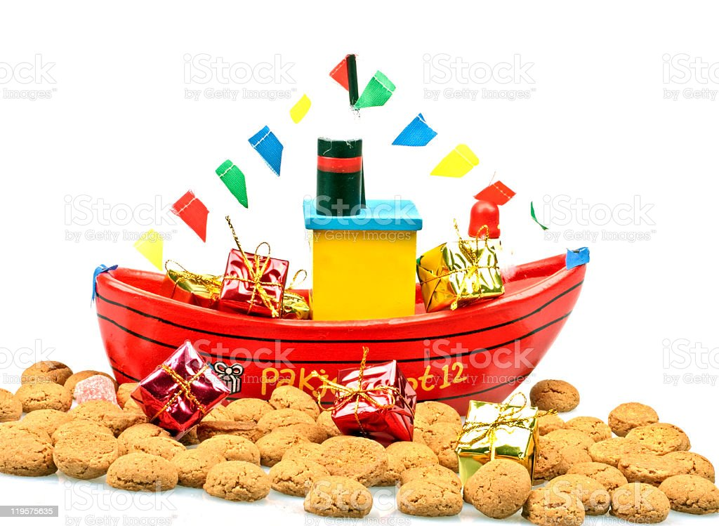 Traditonal dutch:The package boat from santa claus royalty-free stock photo