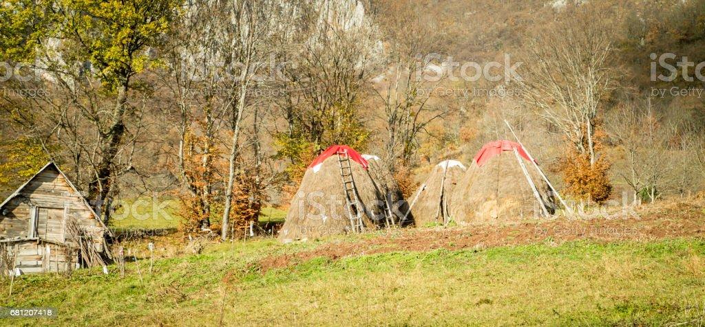traditonal haystack montenegro royalty-free stock photo