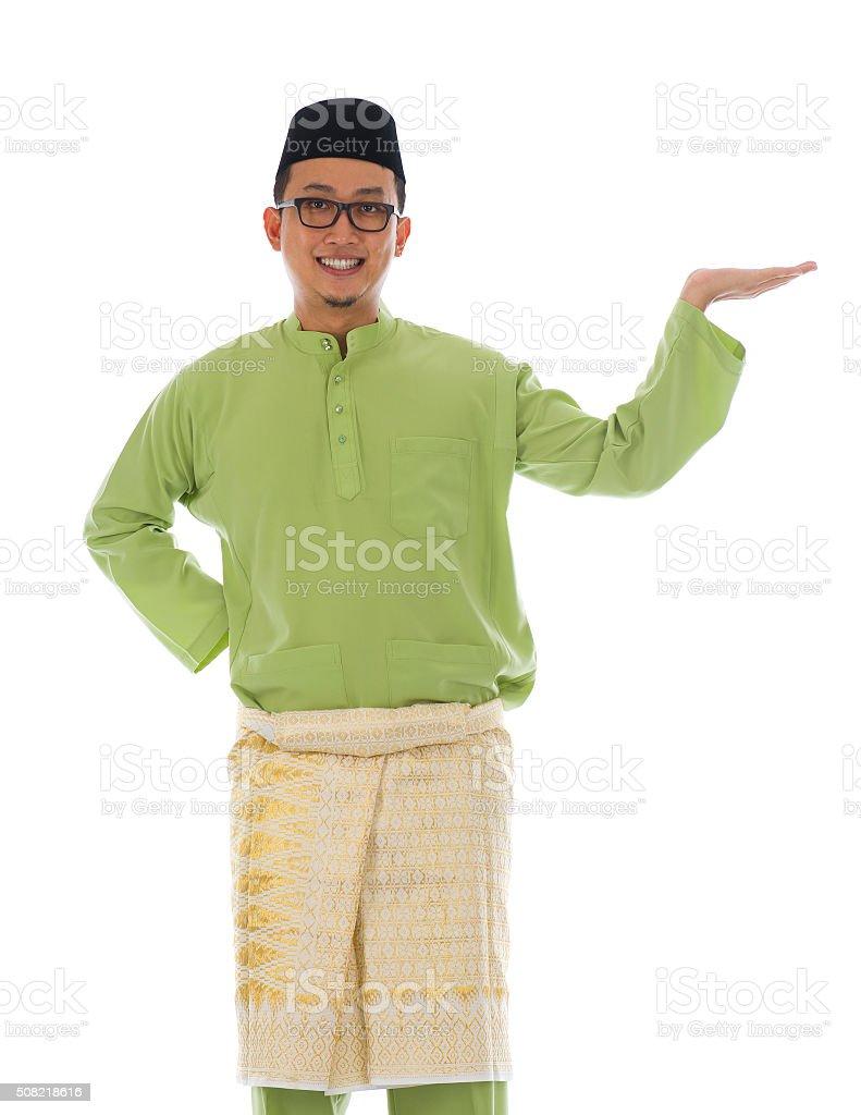 Traditonal Malay man stock photo