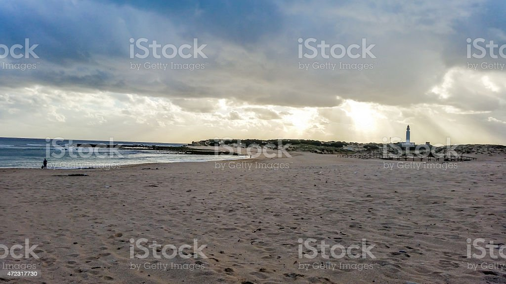Trafalgar beach stock photo