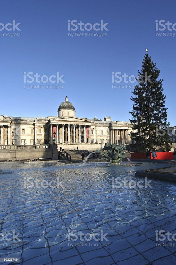 Trafalgar Square Christmas royalty-free stock photo
