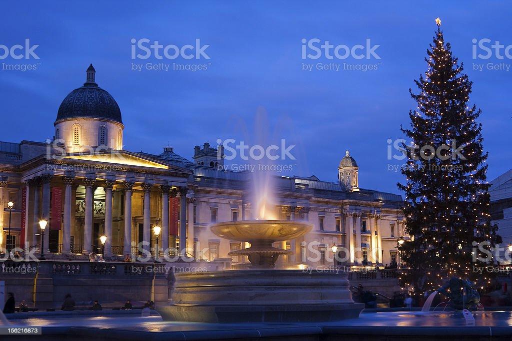 trafalgar square in christmas royalty-free stock photo