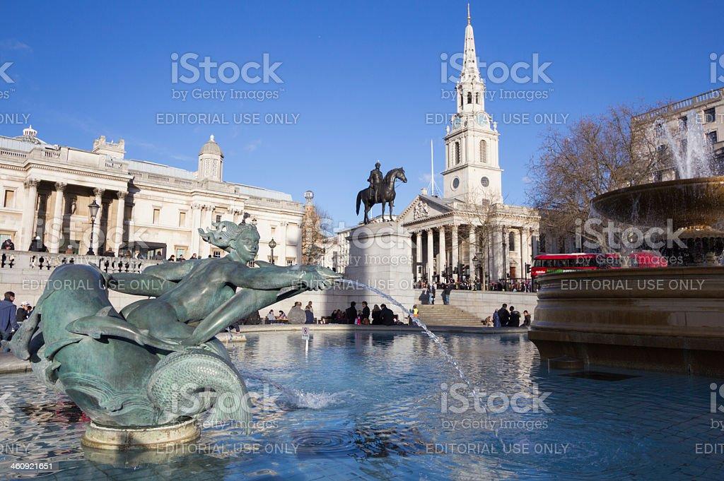 Trafalgar Square in London, England stock photo