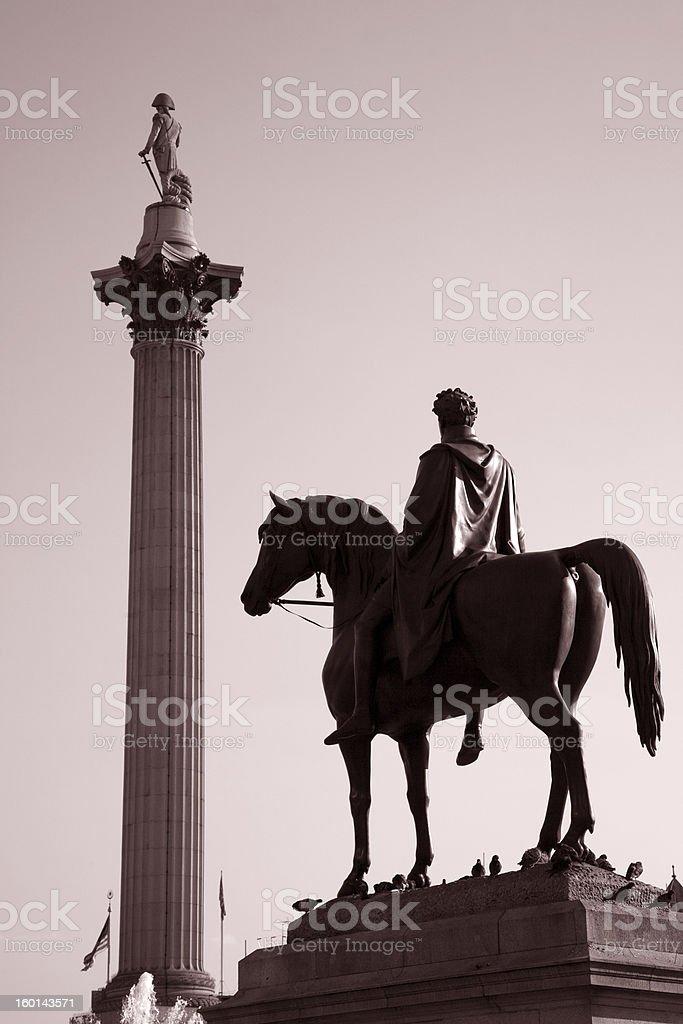 Trafalgar Square; London, England stock photo