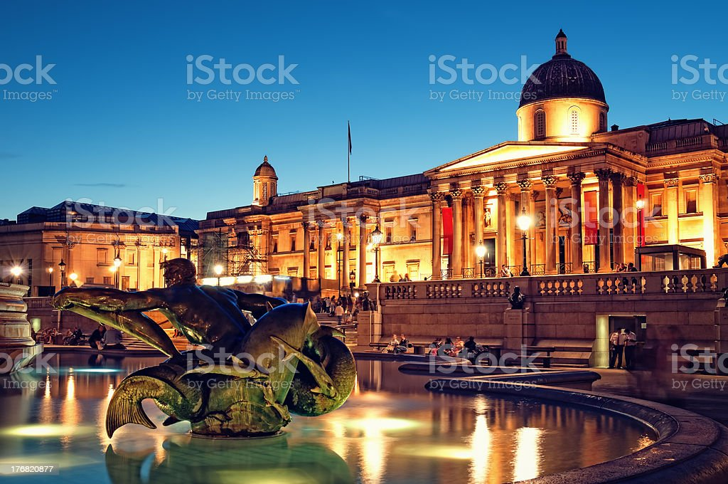 Trafalgar Square, London. royalty-free stock photo