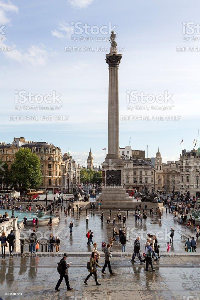 Trafalgar Square London stock photo