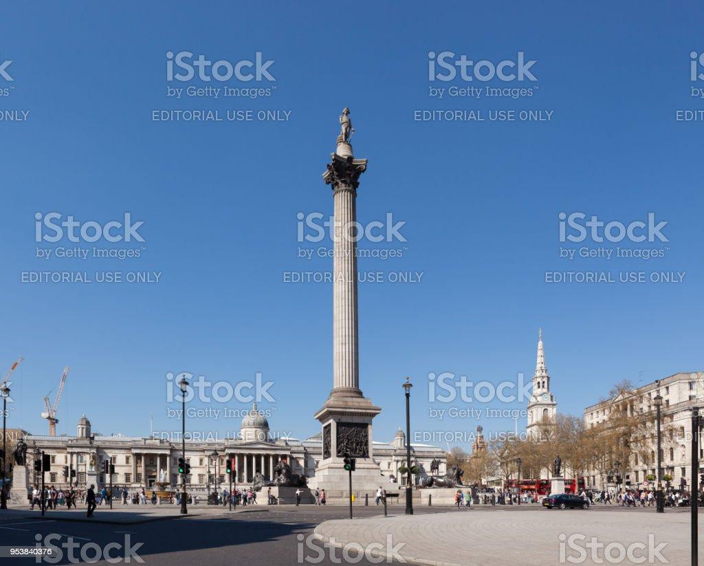 Trafalgar Square. stock photo