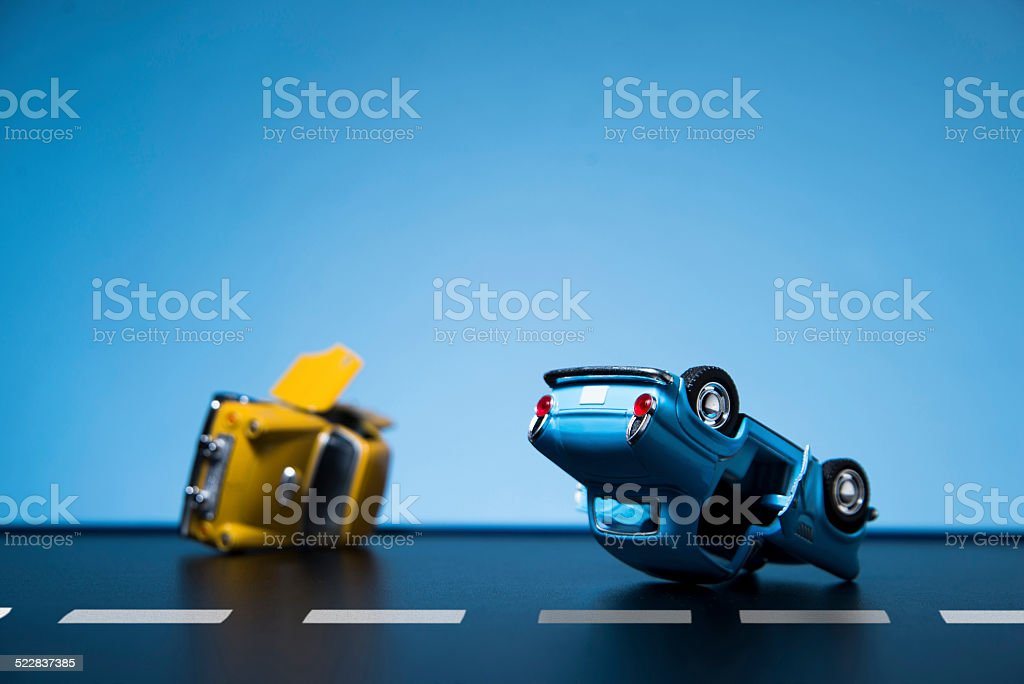 Accidente de tráfico - foto de stock