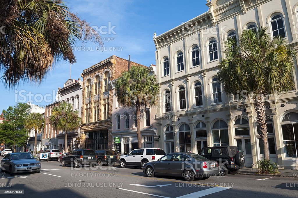 Summer on Broad Street in Charleston SC royalty-free stock photo