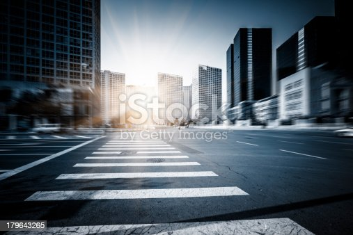 1154996700istockphoto Traffic at  Business District 179643265