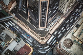 High view of traffic at downtown Sydney, Australia