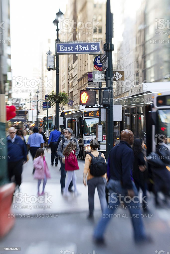 Traffic at Madison Avenue stock photo