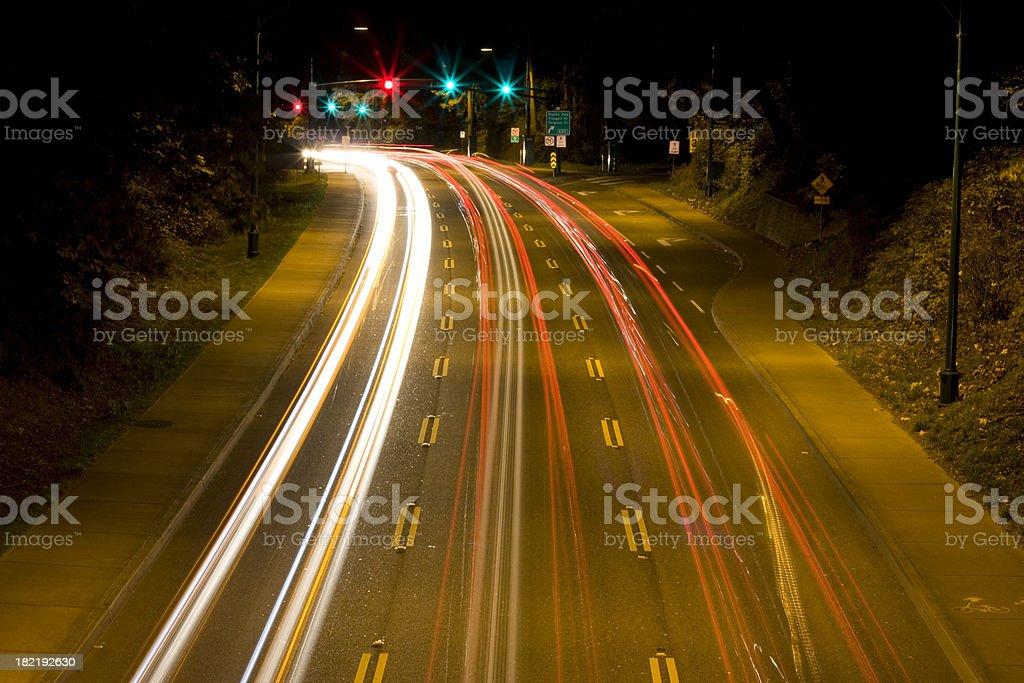 Traffic at Night royalty-free stock photo