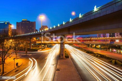 175130389 istock photo traffic at night 496585455