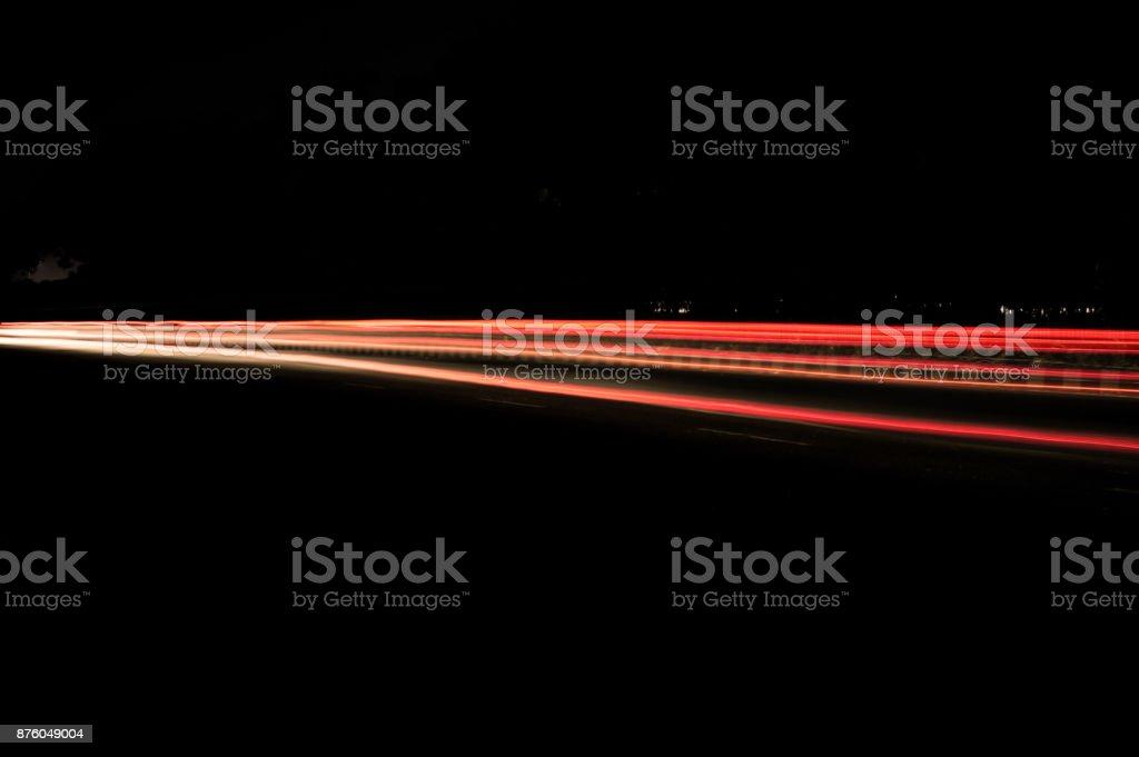 Traffic at night stock photo