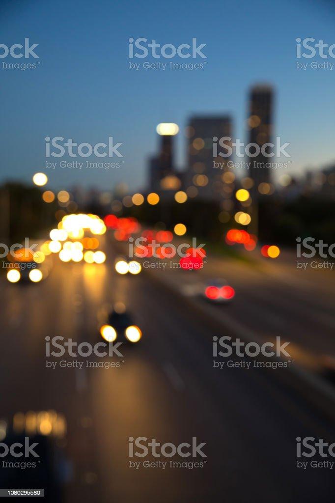 Traffic at rush hour stock photo
