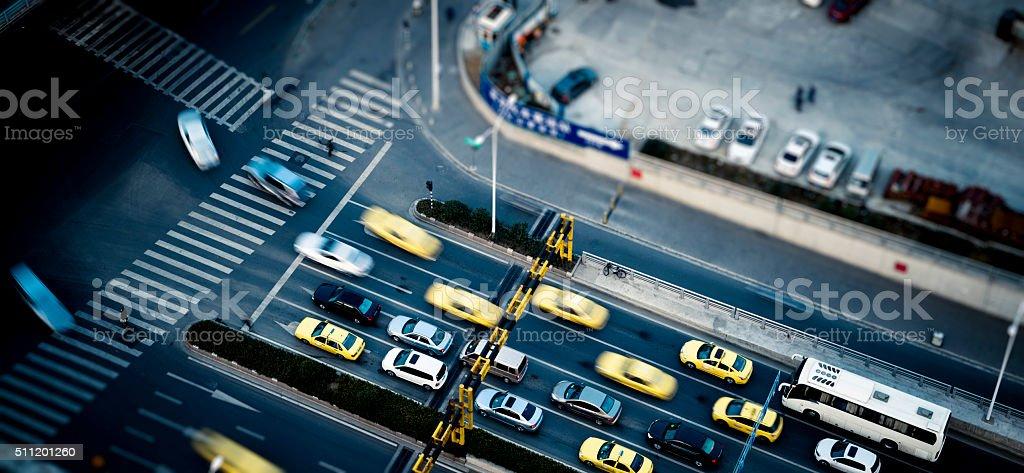 traffic at shanghai china stock photo