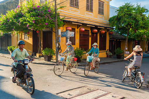 Traffic at the crosways in Hoi An, Vietnam