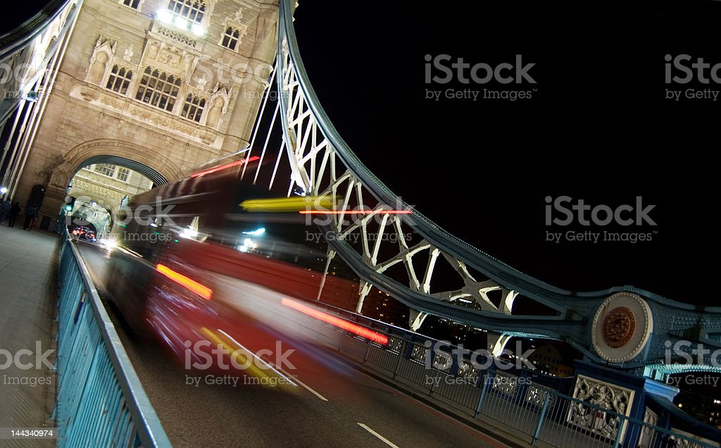traffic at tower bridge royalty-free stock photo